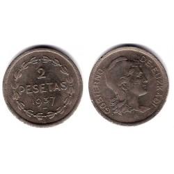 Gobierno de Euskadi. 1937. 2 Pesetas (MBC)