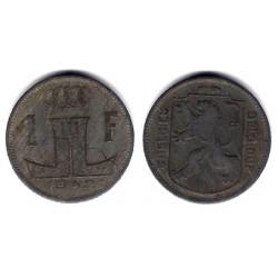 (128) Bélgica. 1942. 1 Franc (MBC)