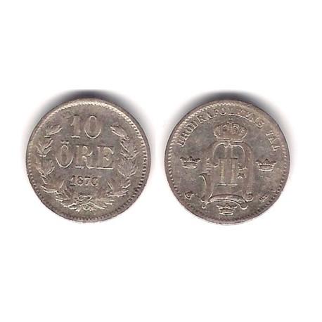 (737) Suecia. 1876ST. 10 Ore (MBC) (Plata)