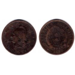 (33) Argentina. 1889. 2 Centavos (BC)
