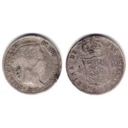 Isabel II. 1861. 4 Reales (BC+) (Plata) Ceca de Barcelona