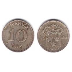 (813) Suecia. 1942G. 10 Ore (MBC) (Plata)