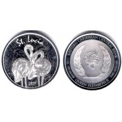 Estados Orientales Caribeños. 2018. 2 Dollars (Proof) (Plata) Santa Lucia