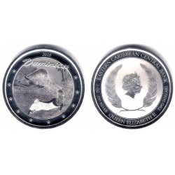 Estados Orientales Caribeños. 2018. 2 Dollars (Proof) (Plata) Dominica