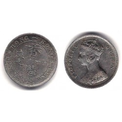 (6.3) Hong Kong. 1900. 10 Cents (EBC) (Plata)