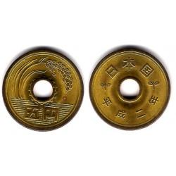 (Y96.2) Japón. 1990(2). 5 Yen (SC-)