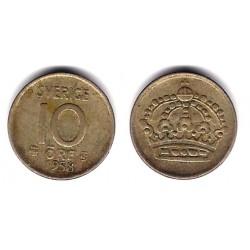 (823) Suecia. 1958TS. 10 Ore (BC+) (Plata)
