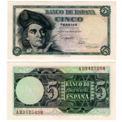 Estado Español. 1948. 5 Pesetas (EBC) Serie A
