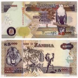 (45g) Zambia. 2011. 5000 Kwacha (SC)