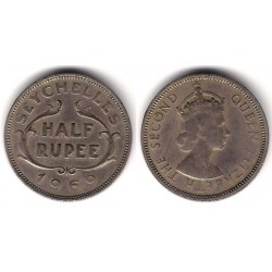 (12) Seychelles. 1969. Half Rupee (MBC)