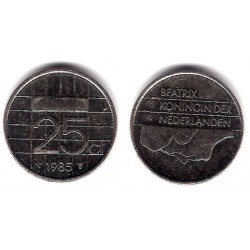 (204) Países Bajos. 1985. 25 Cents (MBC)