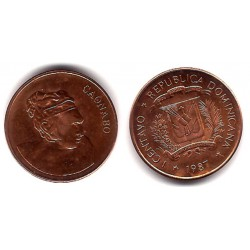 (64) República Dominicana. 1987. 1 Centavo (MBC)