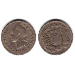 (18) República Dominicana. 1959. 5 Centavos (BC-)