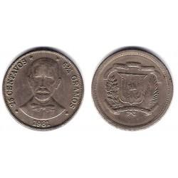(51) República Dominicana. 1981. 25 Centavos (MBC)