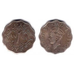 (538) India. 1946. 1 Anna (MBC)