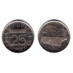 (204) Países Bajos. 1982. 25 Cents (MBC)