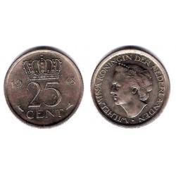 (178) Países Bajos. 1948. 25 Cents (MBC)