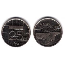 (204) Países Bajos. 1992. 25 Cents (MBC)