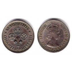 (36) Mauricio. 1971. Quarter Rupee (EBC)