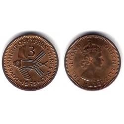 (33) Chipre. 1955. 3 Mils (MBC+)