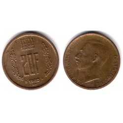(58) Luxemburgo. 1980. 20 Francs (MBC+)