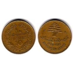 (26) Líbano. 1972. 10 Piastres (MBC)