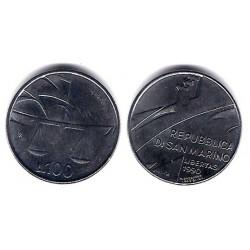 (254) San Marino. 1990. 100 Lira (SC)