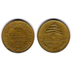 (27.1) Líbano. 1972. 25 Piastres (MBC)