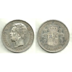 1871*(18-75) 5 Pesetas (MBC)