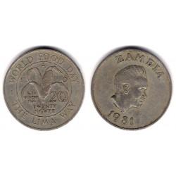 (22) Zambia. 1981. 20 Ngwee (MBC+)
