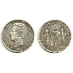 1871*(18-74) 5 Pesetas (MBC)