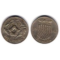 (1) Zambia. 1964. 6 Pence (MBC+)