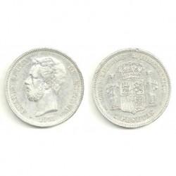 1871*(18-74) 5 Pesetas (BC)