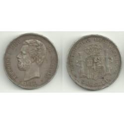 1871*(18-71) 5 Pesetas (MBC)