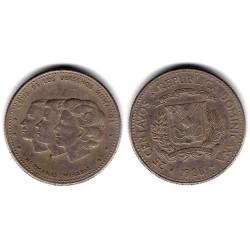 (61.2) República Dominicana. 1986. 25 Centavos (MBC)