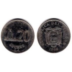 (94.1) Ecuador. 1988. 20 Sucres (MBC+)