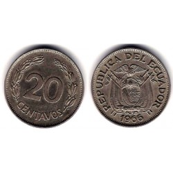 (77.1c) Ecuador. 1966. 20 Centavos (MBC)