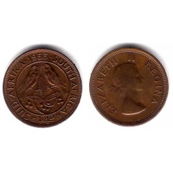 (44) Sudáfrica. 1953. ¼ Penny (MBC)