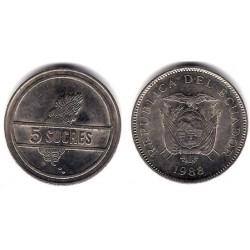 (91) Ecuador. 1988. 5 Sucres (MBC)