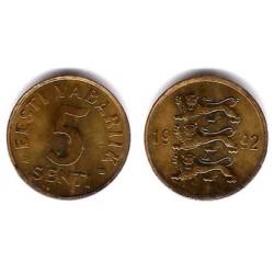 (21) Estonia. 1992. 5 Senti (EBC)