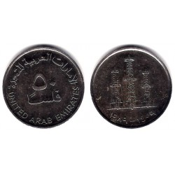 (5) Emiratos Árabes Unidos. 1989. 50 Fils (MBC)