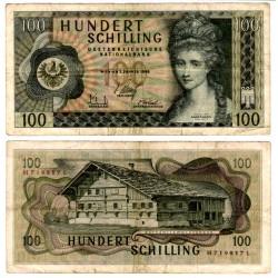 (145a) Austria. 1969. 100 Schilling (MBC) Pequeña rotura margen inf.