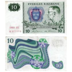 (52d) Suecia. 1983. 10 Kronor (MBC)