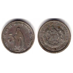 (238.1) Guatemala. 1945. 5 Centavos (BC+)