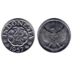 (11) Indonesia. 1957. 25 Sen (SC)
