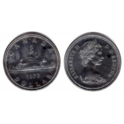 (64.2a) Canadá. 1972. 1 Dollar (SC) (Plata)