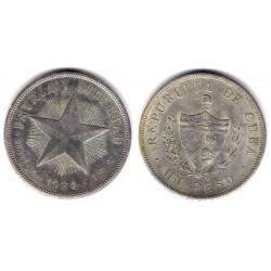 (15.2) Cuba. 1934. 1 Peso (MBC+) (Plata)