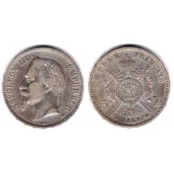 (799.2) Francia. 1869BB. 5 Francs (MBC+) (Plata)