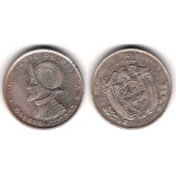 (25) Panamá. 1961. ¼ Balboa (MBC+) (Plata)