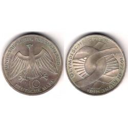 (131) Alemania. 1972(J). 10 Mark (MBC+) (Plata)